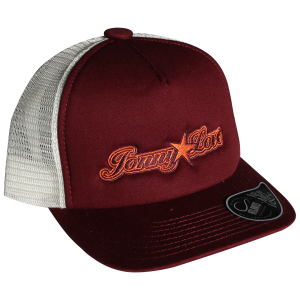 Truckercap burgundy/white