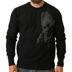 Sweater distressed, insideout